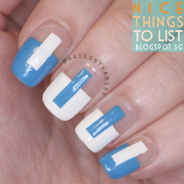 Negative space geometric sonailicious inspired nail art thumb370f