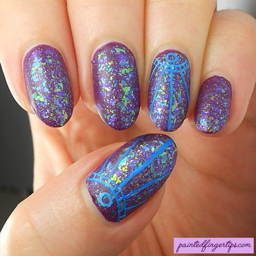 Purple with flakies and freehand thumb370f