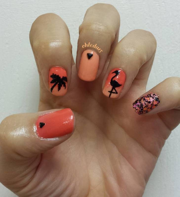 Summer is Not Over Yet nail art by chleda15