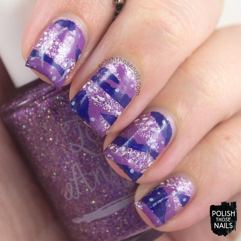 Pattern Bling nail art by Marisa  Cavanaugh