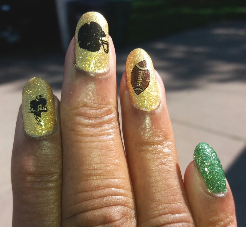 Football Fun nail art by Jackie Bodick