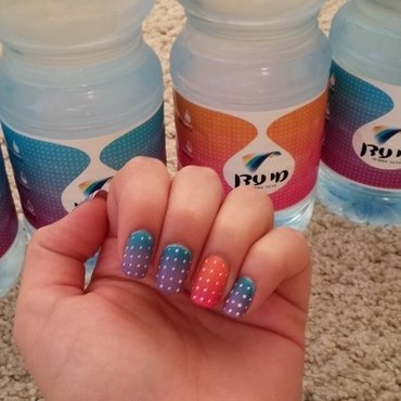 water-bottled inspiration nail art by Maya Harran