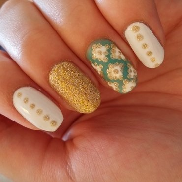 gold nail art by Maya Harran