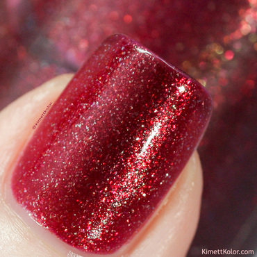 Kimettkolor crimson flower stamping nail art 0254 thumb370f