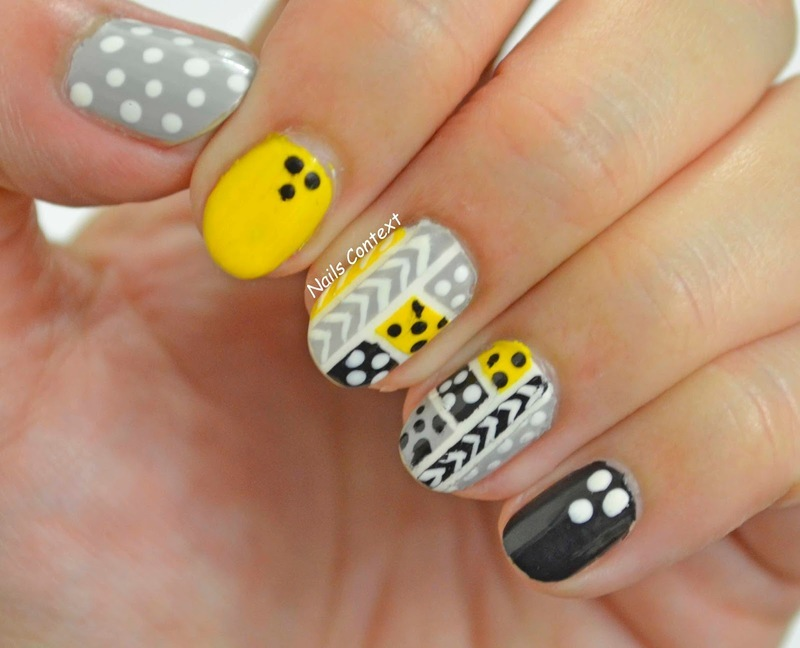 Fall Tribal Nails  nail art by NailsContext