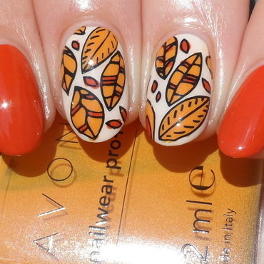 Indian Summer nail art by Plenty of Colors