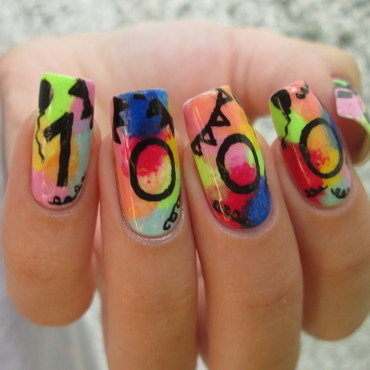Instagram 1000 followers celebration  nail art by NailArt_T