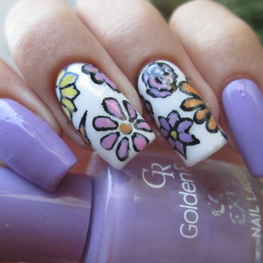 spring flowers nail art by NailArt_T