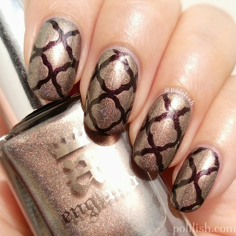 Quatrefoil nail art nail art by polilish