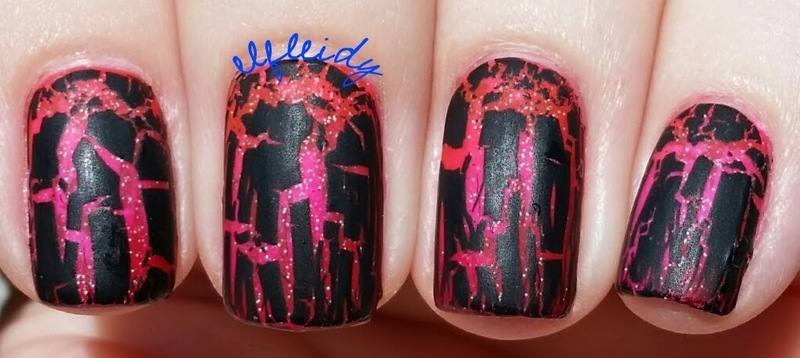 Shattered nail art by Jenette Maitland-Tomblin