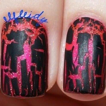 Shattered nail art by Jenette Maitland-Tomblin