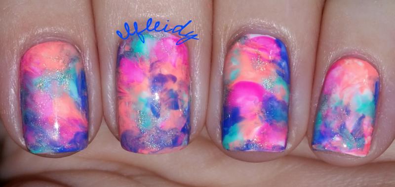#smooshynailsunday 08-28-2016 nail art by Jenette Maitland-Tomblin