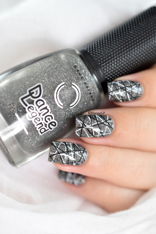 Double stamping tutorial nail art by Marine Loves Polish