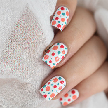Easy colorful polka dots nail art tutorial 20 5  thumb370f