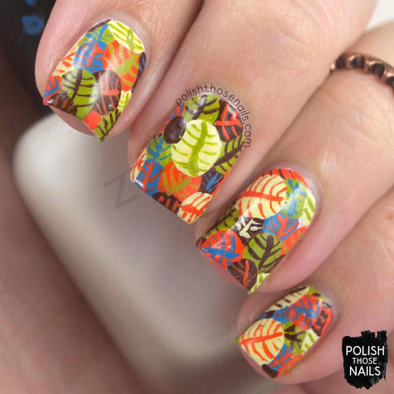 Leaf Circles nail art by Marisa  Cavanaugh