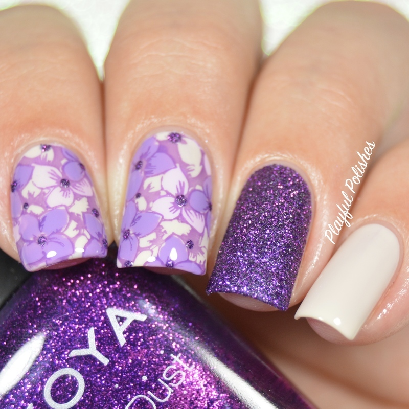 31DC2016 - Day 6, Purple Nails nail art by Playful Polishes
