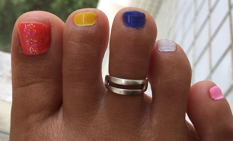 Candy Toes nail art by Idreaminpolish