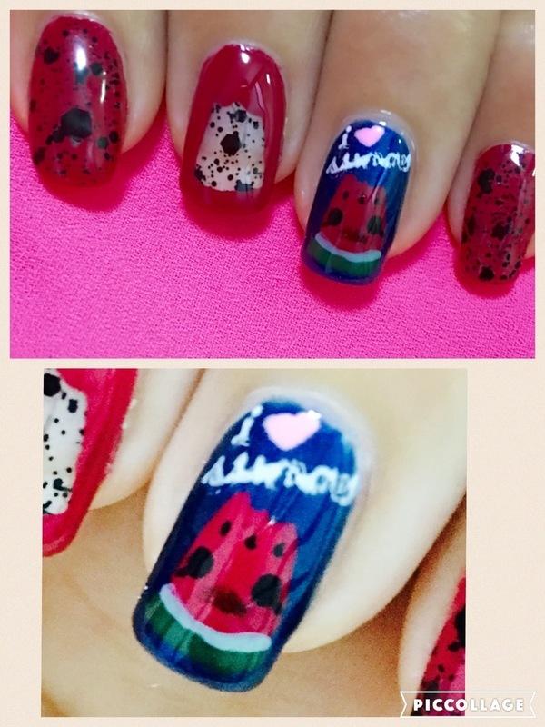 watermelon lovin' summer (kawaii series) nail art by Idreaminpolish
