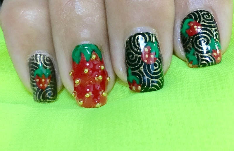 strawberry fields forever 2.0 nail art by Idreaminpolish