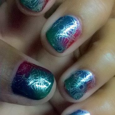 Geometrical Stamping nail art by Avesur Europa