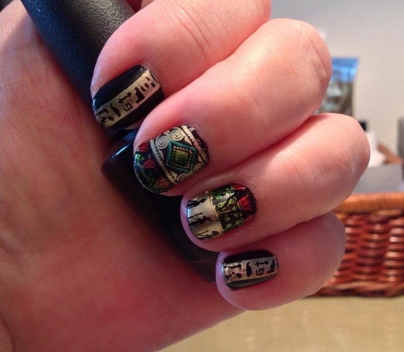 Egypt nail art by Ronit