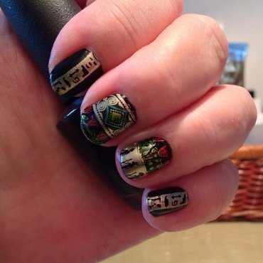 Egypt nail art by Ronit