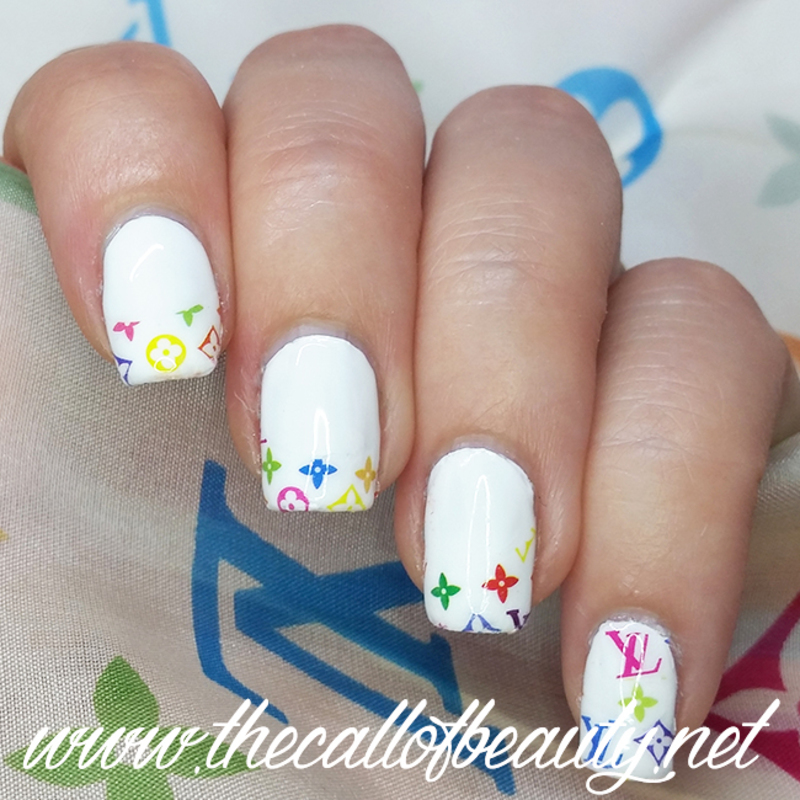 Louis Vuitton Multicolor Monogram nail art by The Call of Beauty ...