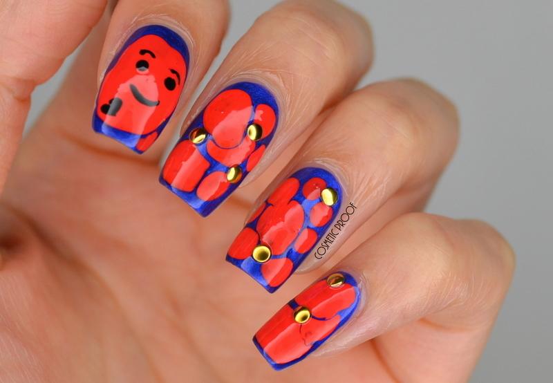 Amoeba Blobbicure  nail art by Jayne