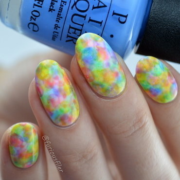 Watercolour Nails nail art by Furious Filer