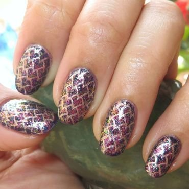 Dragon Eggs nail art by DeadCellCanvases