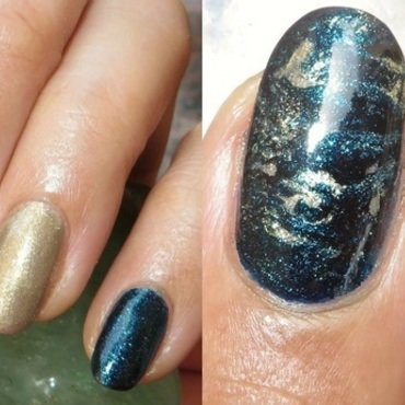 Starry Starry Seas nail art by DeadCellCanvases