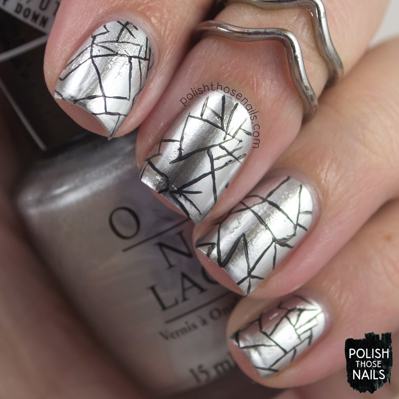 Metallic Shove nail art by Marisa  Cavanaugh