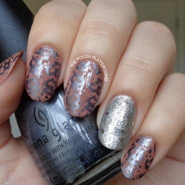 Brown 20and 20dark 20grey 20cat 20stamping 20with 20glittery 20silver 20accent 20nail 20art thumb370f