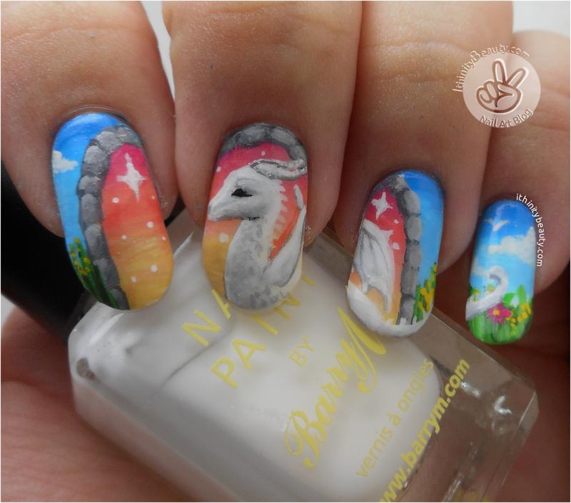 The Dragon Portal! nail art by Ithfifi Williams
