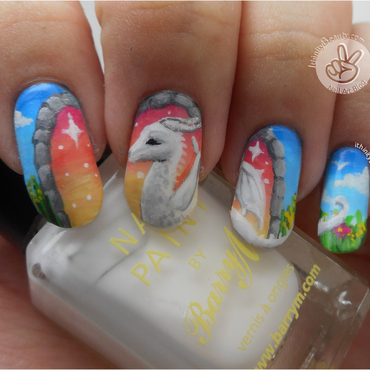 The Dragon Portal! nail art by Ithfifi Williams