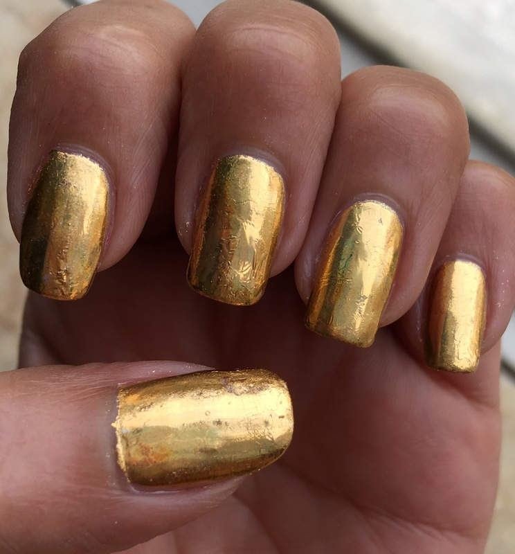 goldfinger nail art by Idreaminpolish
