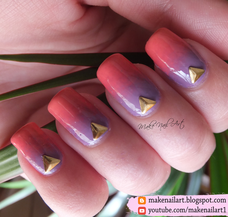 Gradient Nail Art Design nail art by Make Nail Art