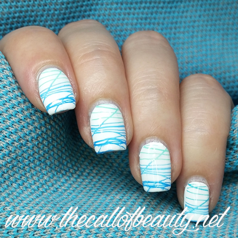 Blue Gradient nail art by The Call of Beauty