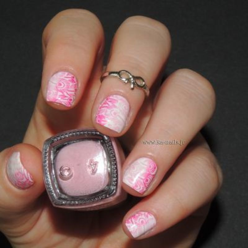 Du Rose au Rose nail art by Ka'Nails
