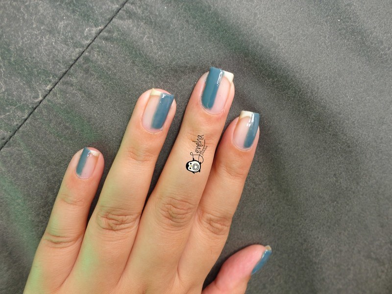 Cut Out Nude Nails nail art by Leneha Junsu