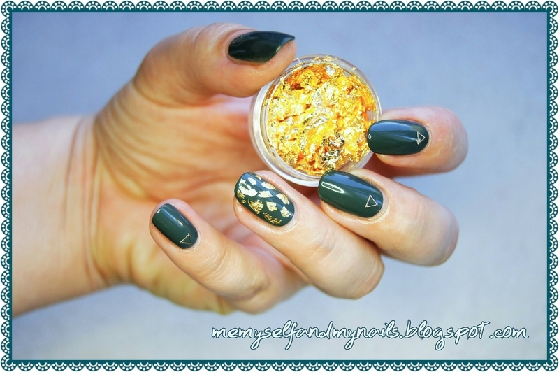 Golden flurry nail art by ELIZA OK-W