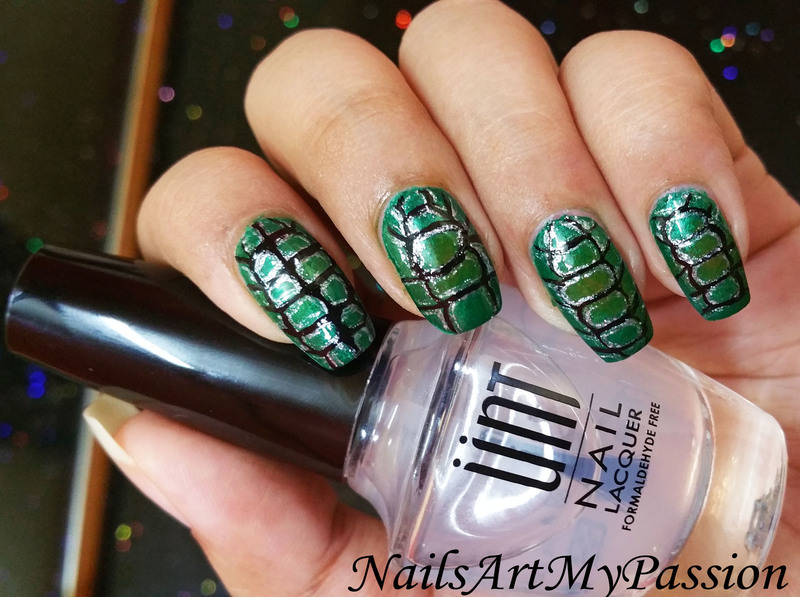 Dragon Scales Nails nail art by Aditi