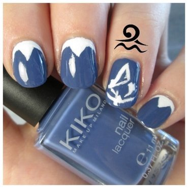 Assassin's Creed Unity nail art by Libraquarius