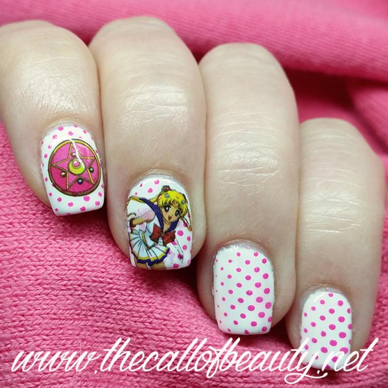 Sailor Moon nail art by The Call of Beauty