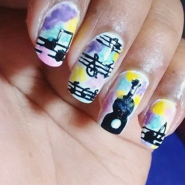 Nailing the beat... nail art by Sohini  Sengupta