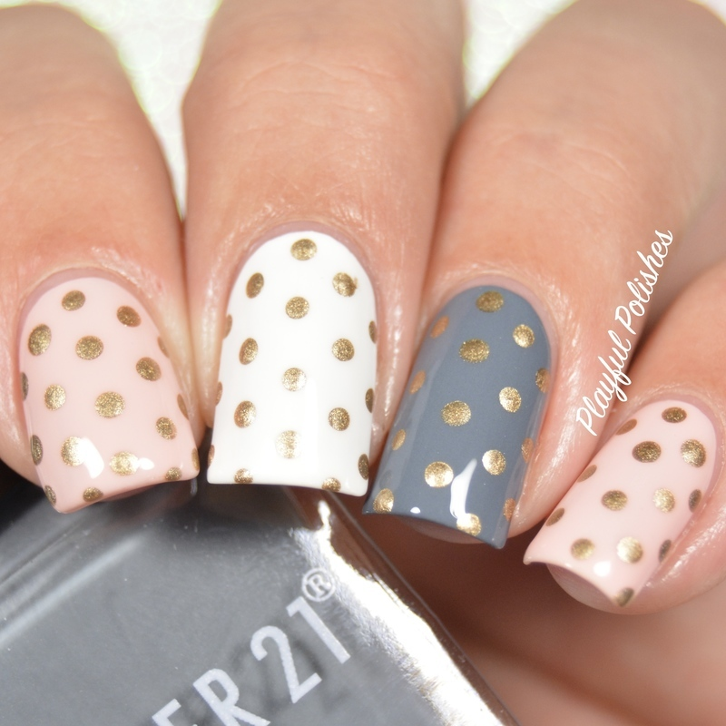 31DC2016 - Day 11, Polka Dot nail art by Playful Polishes