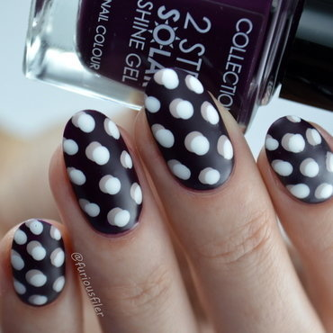 3D Polka Dots nail art by Furious Filer