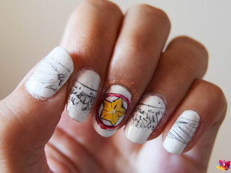 Card Captor Sakura nail art by i-am-nail-art