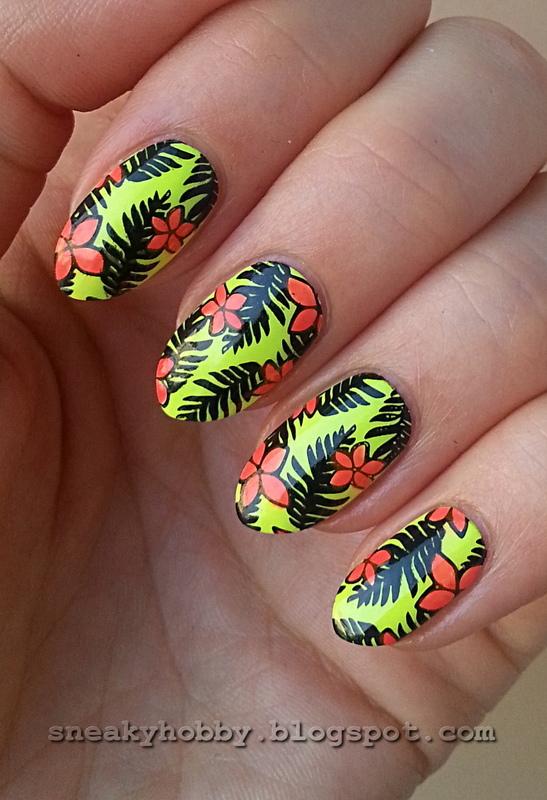 Late Tropics nail art by Mgielka M