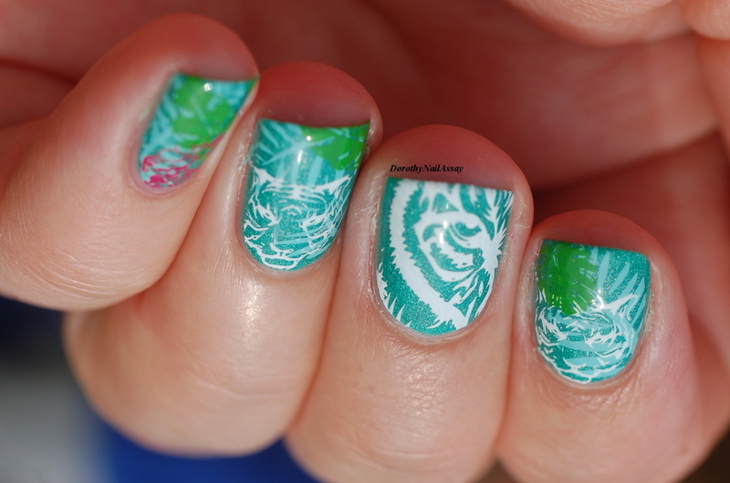 jungle nail art  nail art by Dorothy NailAssay